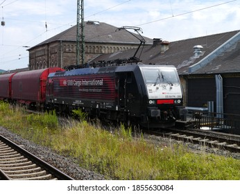 Göttingen - Germany - July 11, 2015: SBB Cargo with a Novelis aluminium train heading for Switzerland in Göttingen.