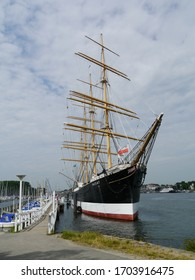 Travemünde, Germany – June 18. 2013: Fourmast Barque Passat in Travemünde
