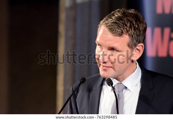 GERMANY, LEIPZIG - NOVEMBER 25, 2017: Björn Höcke Compact AfD right wing politician