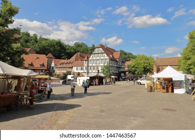 GERMANY, MAULBRONN - 21 JUNE 2019: Shortly before the beginning of the monastery festival 2019