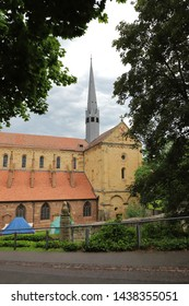 GERMANY, MAULBRONN - JUNE 22, 2019: Church and church tower of Maulbronn Monastery
