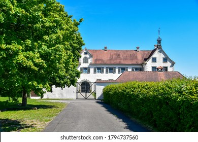 Uhldingen-Mühlhofen, Germany - May 27, 2020: Castle Maurach at lake Constanze.