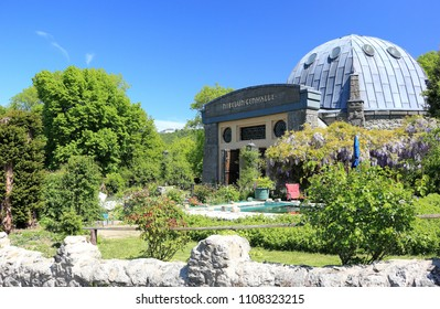 Königswinter, Germany - May 5, 2018: Visiting the Nibelungenhalle on a sunny day in May.