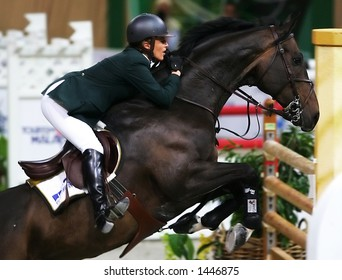 Germany Meredith Michaels-Beerbaum rides Checkmate during FEI World Cup jumping final in Kuala Lumpur, Malaysia, 2006