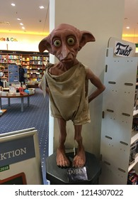 Germany, Muenster, September 25, 2018: Dobby character in the city bookstore in Muenster. One of the characters in the Harry Potter books and movies.