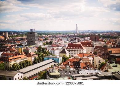 Germany Munchen city skyline at Marienplatz Town Hall