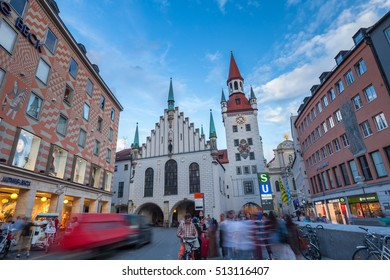 Germany, Munich - July 26 : Old Town Hall on July 26, 2016 in Munich, Germany.