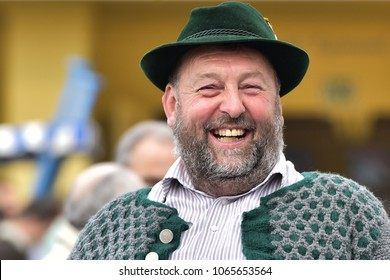 Germany Munich. September 25,2016. Holiday Oktoberfest in Munich. Portrait of a man.