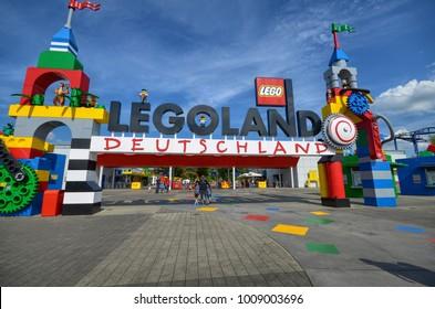 "Germany, near Ichenhausen 25 June 2015 Lego park ""Legoland"". Settings and reproductions made with the legendary plastic bricks."