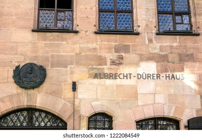 Germany, Nuremberg, SEP 16, 2018: Albrecht Durer's House. A famous building in the city for tourists
