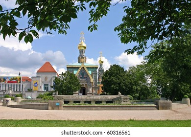 Germany. The Orthodox church in town  Darmstadt