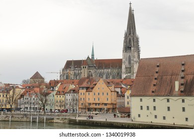 GERMANY, REGENSBURG, FEBRUARY 01, 2019: St. Peter's Cathedral in Regensburg