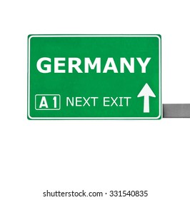GERMANY road sign isolated on white