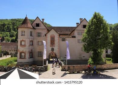 GERMANY, ROTTWEIL, SULZ AM NECKAR, GLATT, JUNE 02, 2019: Water Palace in Glatt