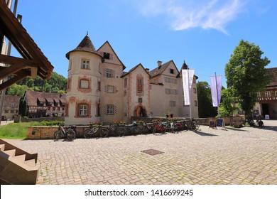 GERMANY, ROTTWEIL, SULZ AM NECKAR, GLATT, JUNE 02, 2019: The Water Palace in Glatt is a popular sightseeing destination