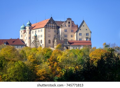 Germany scenic view of castle Kapfenburg in the Ostalb region