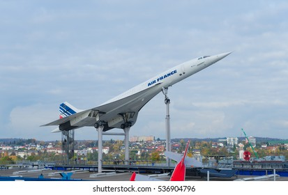 GERMANY, SINSHEIM - NOVEMBER 6, 2016. Concord french plane on November 6 2016 in Sinsheim, Germany