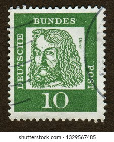 Germany stamp no circa date: a stamp printed in German Federal Republic shows Albrecht Durer (1471-1528), painter and graphic artist, Distinguished Germans serie.