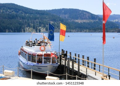 Germany, Titisee Lake - March 13 2011: Titisee Lake at Germany has this water trip service. So Tourists can enjoy the lake by ships