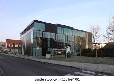 GERMANY, UHINGEN, ULMER STR., MARCH 25, 2018: The Uditiorium is the event hall in Uhingen