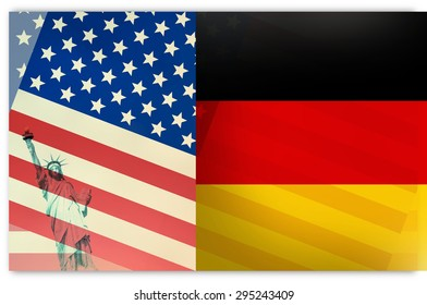 Germany USA Flag
