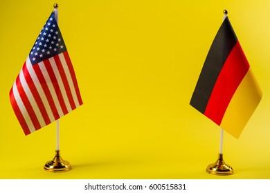 Germany and USA flag