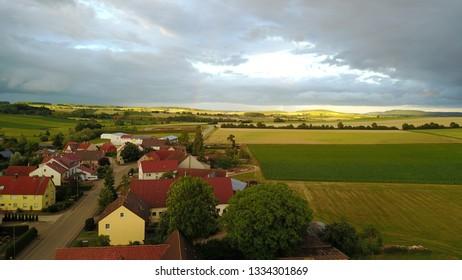 Germany village drone foto