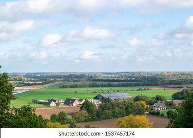 Germany Zyfflich 16 10 2019, The German Village Zyfflich next to the Netherlands with a Dutch polder landscape