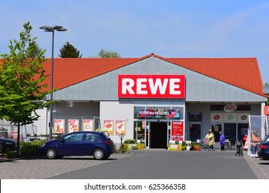 GERMANY-APRIL 20: REWE supermarket on April 20,2017 in Germany.