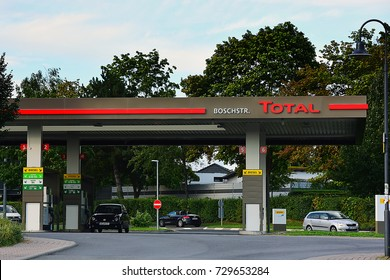 GERMANY-AUG 03:TOTAL gas station on August 03,2016 in Germany.Total is a French multinational oil company and one of the Supermajor oil companies in the world.