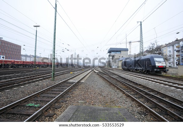 GERMANY-DEC 08:view on the railway station on December 08,2016 in Germany.