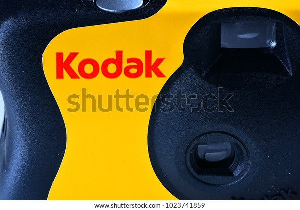 GERMANY-FEBRUARY 11,2018: KODAK film camera.Kodak is an American technology company that produces imaging products with its historic basis on photography.