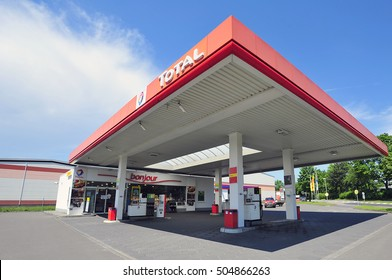 GERMANY-JUNE 07:TOTAL gas station on June 07,2016 in Germany.Total is a French multinational oil company and one of the Supermajor oil companies in the world.
