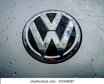Germering Auto Show, September 20 2015 Germany - Sunday, VW logo