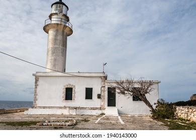 Gero gobos lighthouse in Lixouri Kefalonia, ionian island in Greece