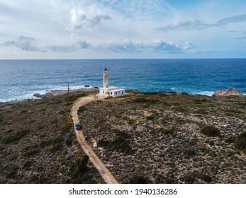 Gero Gobos lighthouse in Palliki peninsula in Kefalonia, ionian island in Greece
