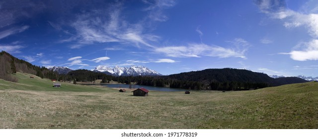 Geroldsee Panorama Landschaft Blaue Himmel Berge