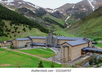 Geron,Spain;06 03 2018: The mythical sanctuary of Vall de Nuria in all its splendor