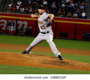 Gerrit Cole  pitcher fir the Pittsburgh Pirates at Chase Field in Phoenix, AZ USA May 11,2017.