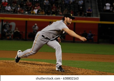 Gerrit Cole pitcher for the Pittsburgh  Pirates at Chase Field in Phoenix, AZ USA May 11,2017.