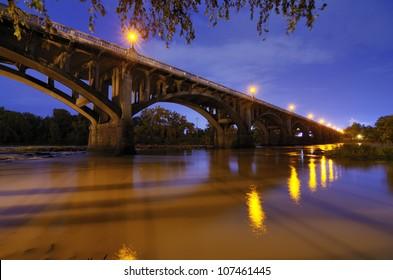Gervais Street Bridge in Columbia, South Carolina, USA.