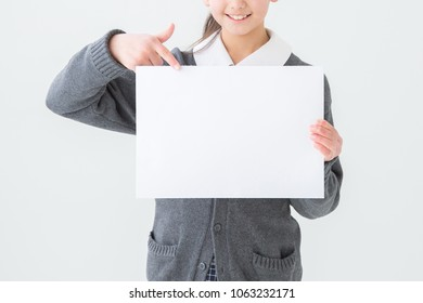 Gesture of the girl student