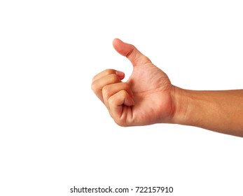 The gesture of the hand is going to fist.
