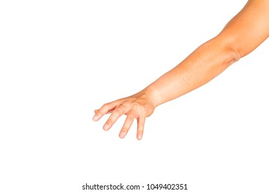 Gesture of reaching to grasp objects.Clipping path inside.