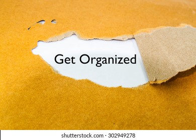 Get organized business concept