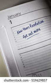 Get Out More New Years Resolution in the diary