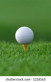 get ready golf ball on tee