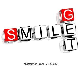 Get Smile Crossword on white background