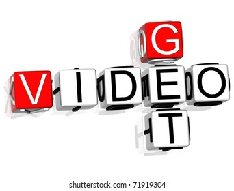 Get Video Crossword text on white background