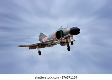 GETAFE, SPAIN - MAY 9: The McDonnell Douglas F-4 Phantom II is long-range supersonic jet interceptor fighter/bomber originally developed for the United States Navy, on May 9, 2009, in Getafe, Spain